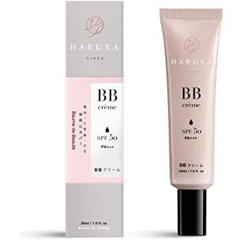 HARUKA GINZA BBクリーム 30ml (自然な肌色) ハルカギンザ SPF50 敏感肌用 テカリ防止 ファンデーション 日焼け止め コンシーラー 化粧下地
