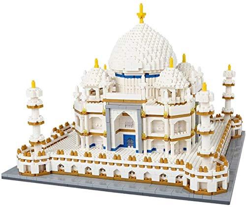 hsj Model Kits, Taj Mahal World Famous Landmark 4000 + PC Nano Mini Bausteine Kits Kids BAU Educational DIY Spielzeug, Weihnachten Exquisite Verarbeitung