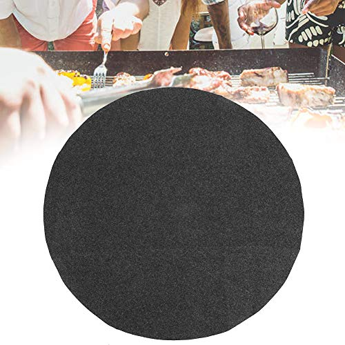 Grill Mat,36in Round Shape Gary Barbecue Mat Oil Resistant BBQ Floor Protective Mat for Home Party Use,Easy Clean & Easy Use on Gas, Charcoal, Electric Grill