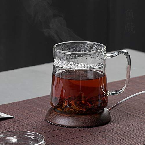 U&TE Becher-Wärmer for Tee, Kaffee oder Milch, USB-Kaffeetasse-Wärmer-Coaster, Kaffee-Getränkewärmer for Büro/Home Use Electric Cup Heizung Holzmaserung Milch Teegetränk Heizplatte