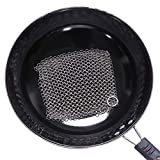 Stainless Steel Brush Net Cast Iron Cleaner Mesh Pot Pan Scrubber Griddle Scraper Brush Cleans Cookware Like New with No Scratches Redondo Cuadrado