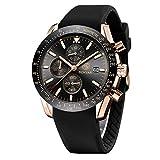 BENYAR Armbanduhr für Männer Herren Uhr Chronograph Analogue Quartz Silikonband Wasserdicht 30M...