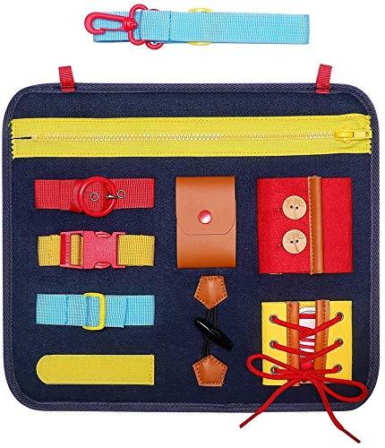 Toddler Busy Board,Baby Basic Skills Activity Board,Montessori Sensory...