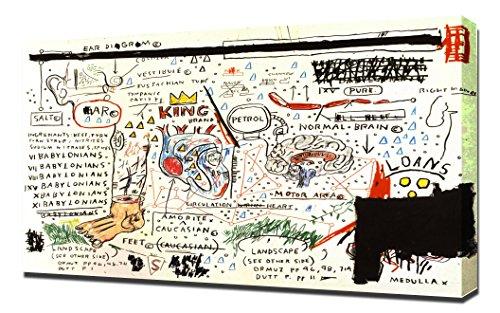 King Brand - Jean Michel Basquiat - Impression sur Toile - Image sur Toile - Impression Giclée
