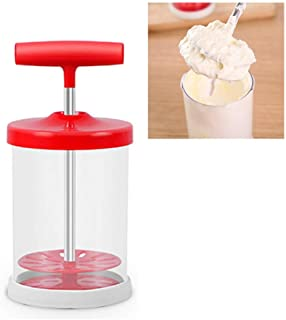 Manual DIY Whipping Cream Dispenser - Universal-Mixer With Non-Slip Silicone Grip, Cream Whipper Maker for Salad Dressings...