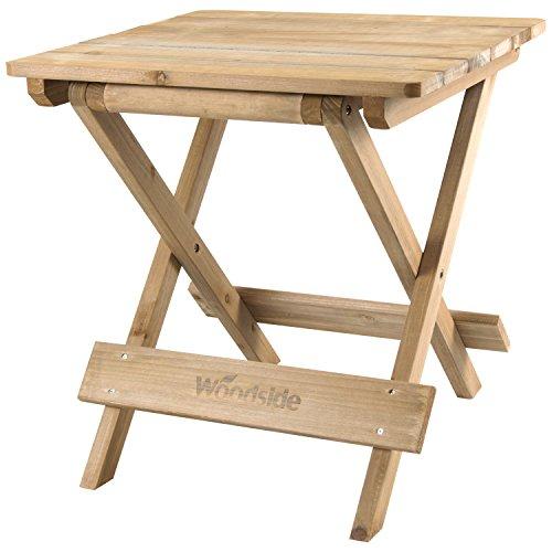 Woodside Folding Coffee Side Snack Table Wooden Garden Patio Furniture