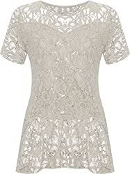 Lined lace fabric with sequins Peplum frill Length approx. 70cm Sizes 14, 16, 18, 20, 22/24, 26/28 Authentic & Original Only From WearAll