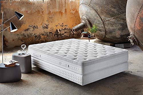 Yatas Tesla Sleep PRO 160x200 cm Taschenfederkernmatratze, Viskose, weiß, 160x200cm