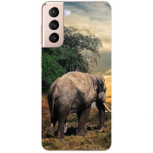 Generisch Funda blanda para teléfono móvil con diseño de elefante Savanne puesta de sol Steppe Africa para Samsung Apple Huawei Honor Nokia One Plus Oppo ZTE Xiaomi Google, tamaño: Huawei P10 Lite