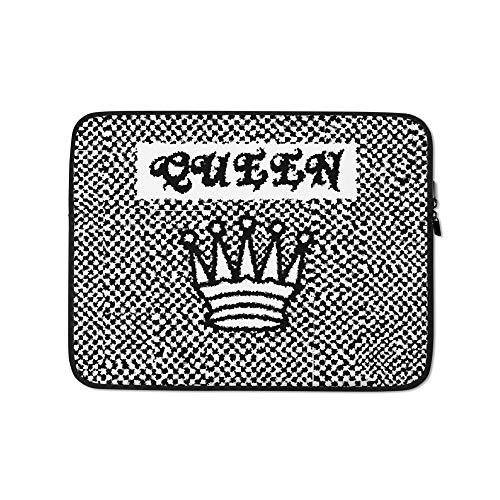 Millennial Merch Checkered Queen Pattern Waterproof Lightweight Laptop Sleeve/Case 15 Inch Back to School Laptop Skins Girls Laptop Sleeve Cool Laptop Covers