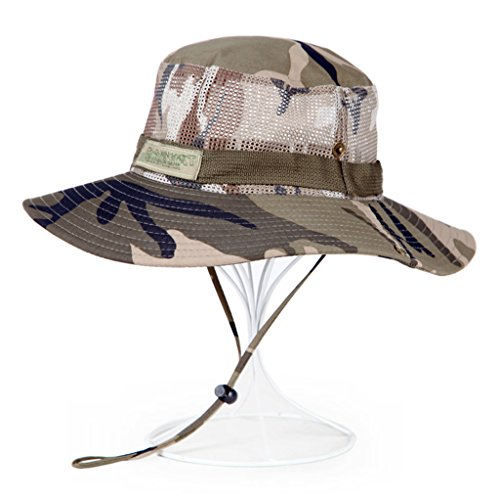 CHGDFQ Sombrero de Visera Gorra de Camuflaje de poliéster, Gorra de Pesca UV para Montar en la Pantalla al Aire Libre para Montar a Caballo (Color : C)