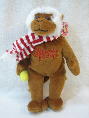 "The Cheesecake Factory Small 8"" Holiday Plush Monkey by Herrington Teddy Bears"