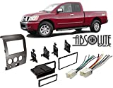 Absolute USA ABS99-7406 Fits Nissan Titan 2004-2005 Double DIN Stereo Harness Radio Install Dash Kit