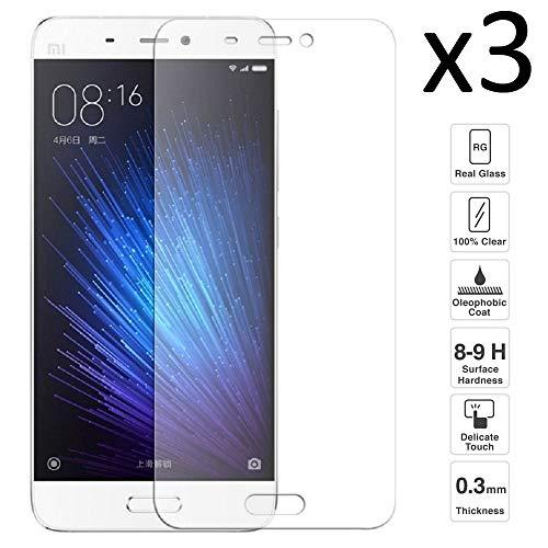 iGlobalmarket [3 Unidades Protector de Pantalla Xiaomi Mi5s Mi 5s, Cristal Templado Xiaomi Mi5s Mi 5s, Alta Definicion, 9H Dureza, Resistente a Arañazos