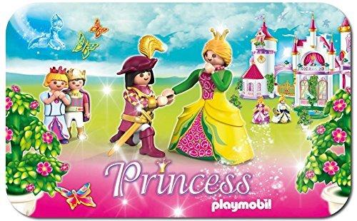 PLAYMOBIL Princess Prinszessin Teppich 80 x 50 cm 100% PA 400 Gramm Latexrücken