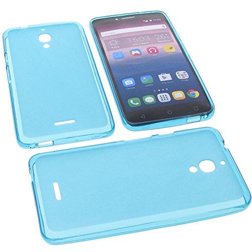 foto-kontor Tasche für Alcatel Pixi 4 6.0 4G Gummi TPU Schutz Handytasche blau