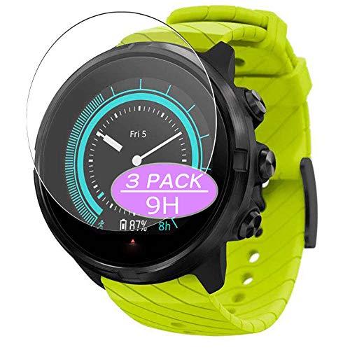 Vaxson Protector de pantalla de cristal templado, compatible con reloj inteligente Suunto 9 G1, protector de película 9H