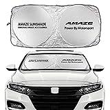 車用サンシェード 車のフロントガラスのサンシェードカバー互換性のあるホンダアマイズブリオBR-V都市CROSSTOUR CR-Z DOHC ELYSION FIT FREED HR-Vアクセサリー メッシュカーシェード (Color : For AMAZE)