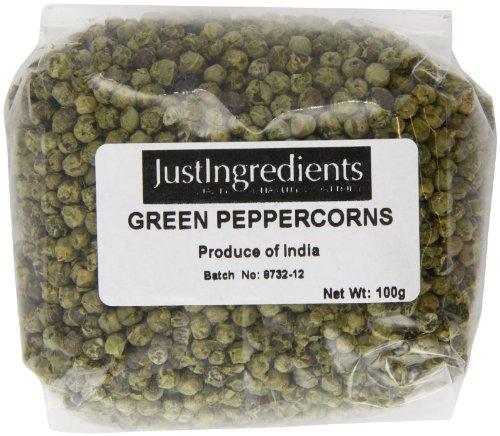 Justingredients Grani di Pepe Verde - 5 Confezioni da 100 G
