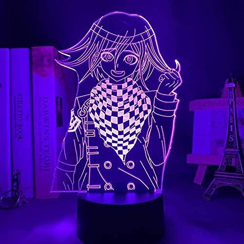 3D LED Luz de noche - Figura de anime,7 colores Cambio control remoto,3D illusion lamp Adecuado para regalos navideños para niños y niñas