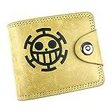 WANHONGYUE One Piece Anime Cartera de Cuero Artificial Monedero Tríptico Billetera Clásico Portatarjetas para Hombre /1
