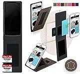 reboon Hülle für Alcatel Idol 4 Pro Tasche Cover Case Bumper | Braun Wildleder | Testsieger