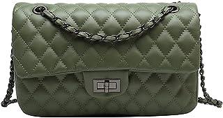 ZCPCS. Black Weave Crossbody Bag für Frauen Designer Leder Schultertaschen Kleine Flap Handtasche Kette Tasche (Color : Cl...