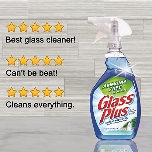 Glass Plus Glass Cleaner, 32 fl oz Bottle, Multi-Surface Glass Cleaner