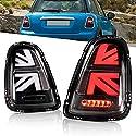 Volle LED Rückleuchten für Mini Cooper JCW ONE R56 R57 R58 R59[2011-2013] Rückleucht, Rückleuchter mit Dynamisch Blinker Rücklicht, keine E-Markierung(Schwarz)
