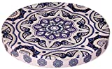 Sitzkissen im Ornament Design Rund Stuhlkissen Sitzpolster Bodenkissen Größe: ca. Ø 40 cm x 4 cm...