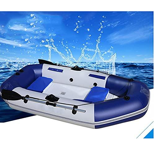 PZJ-Bote Inflable con remos, colchón de Aire Inflable de PVC para Barcos Marinos, Resistente, para 5-6 Personas, balsa Inflable, Bote de Pesca
