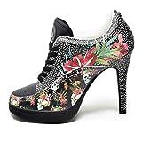 MISSY ROCKZ DEATHHEAD Black Bequeme High Heels, Größe: EU 36 / UK 4 / US 6, Absatz: 10.5 cm