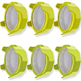 6 PCS Sprouting Lids with Stainless Steel Screen Plastic Sprouting Lids, for Wide Mouth Jars,...