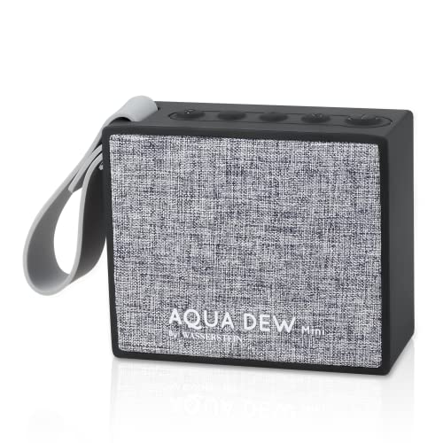 Aqua Dew Mini - Portable Alexa Smart Speaker, Waterproof Bluetooth Speaker, IPX6 Waterproof for Home and Outdoor, Wireless Stereo Pairing for Awesome Party Experience