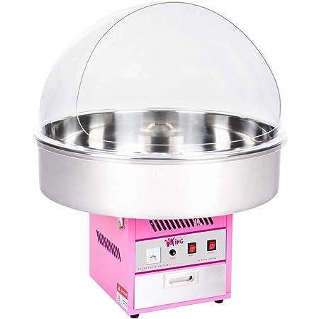 Royal Catering Machine à Barbe à Papa Professionnelle RCZK-1200XL (diamètre de la cuve 72 cm, 1.200W, rendement horaire 1 unité/60s, 72x72x88cm, avec couvercle de protection)