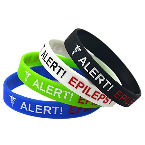 North King Silicone bracelet alert epilepsy hand ring concave fill child hand ring set of 4 pieces