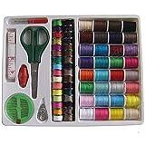 YALIXING Textiles para el hogar Kit de Costura portátil 100pcs Threader Aguja Cinta métrica Mida Scissor Dimble Set Proporcionarle una Experiencia de Vida cómoda