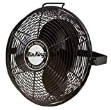 Air King 9314 14-Inch Industrial Grade High Velocity Multi Mount Fan,Black