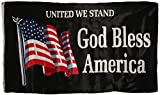 Trade Winds 3x5 United We Stand God Bless America Flag House Banner Grommets Super Polyester Premium Fade Resistant