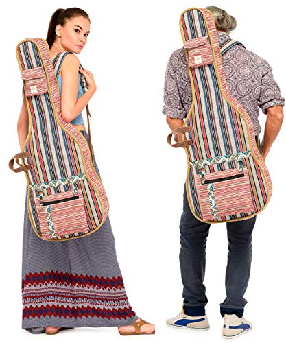 The-House-of-Tara-Multicolour-Patterned-Handloom-Fabric-Guitar-Bag-Case-for-Men-and-Women
