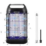 ROVLAK Lámpara Antimosquitos Electrico Mata Mosquitos Electrico con 14W UV Luz Lámpara Mata Insectos Sin Químicos Tóxicos Mosquito Trampa para Salón Despacho y Habitación Infantil