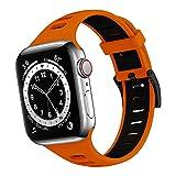 Dumgeo Correas Compatible con Apple Watch Correa 44mm 38mm 40mm 42mm, Deportiva de Silicona Blanda Correa Suave para Apple Watch Series 6 5 4 3 2 1 SE