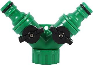 Zerodis Divisor de Manguera de Jardín de con 2 Vías, Conector de Manguera con Válvula en Forma de Y Utilizado al Aire Libre