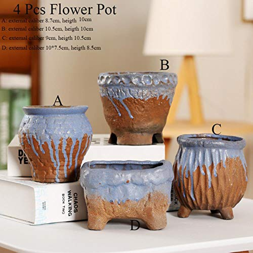 SYART Bloem Pot Succulente Cactus Pot Plant Tuin Keramische Planter Steengoed schilderij Potten Buiten Tuin Thuis vensterbank