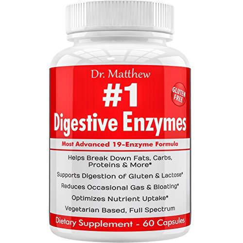 Best Digestive Enzymes W/ Amylase Bromelain Lipase, Dpp-Iv. For Women &Amp; Men. Lactose Intolerance, Ibs, Gallbladder, Gas, Bloating, Constipation Relief. Vegetarian, Gluten-Free, Natural, Full Spectrum