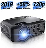 Vidéoprojecteur Natif 720p Mini Projecteur LED Support Full HD 1080p 176 Pouces Prend en Charge HDMI USB SD VGA AV pour...