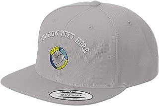 Custom Snapback Baseball Cap Beach Volleyball Embroidery Design Acrylic Cap