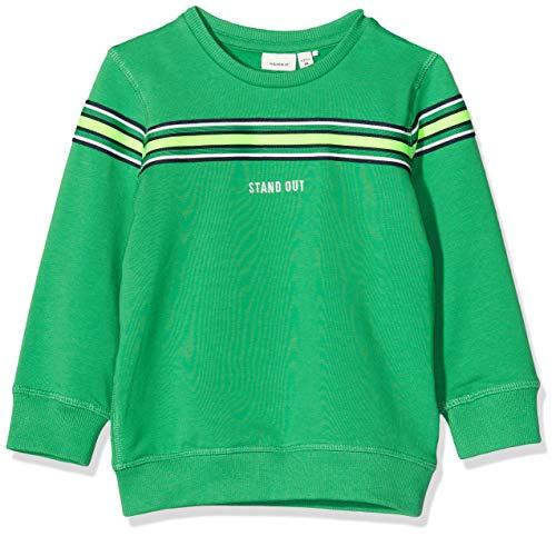 NAME IT Baby-Jungen NMMTONY LS Sweat BRU Sweatshirts, Grün (Leprechaun), 92