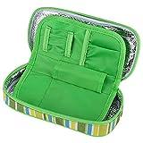YuKeShop Portátil insulina diabética refrigerador bolsa organizador aislamiento médico refrigeración viaje caso verde