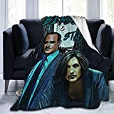 Needlove Benson & Stabler Law and Order SVU Throw Blanket Suitable Ultra Soft Weighted Bedding Fleece Blanket for Sofa Bed Office 50'x40' Travel Multi-Size for Adult